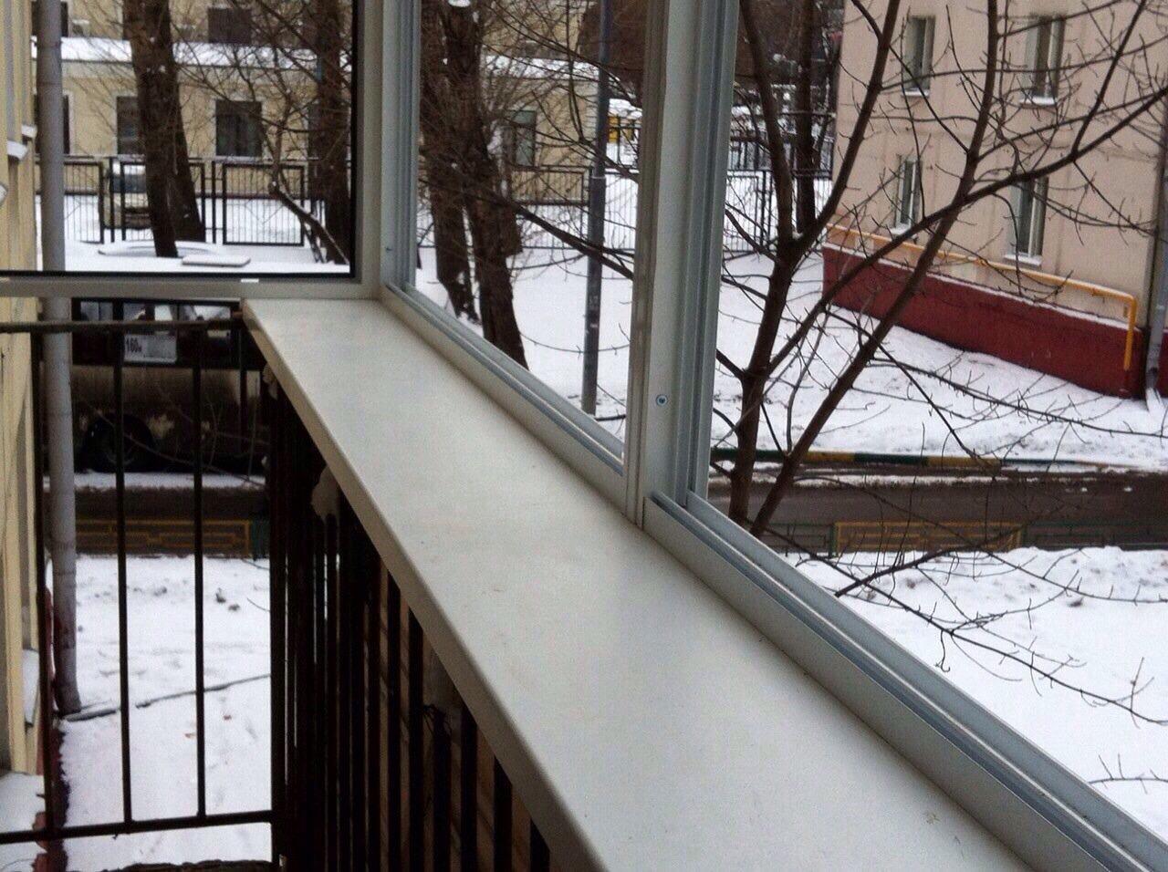 """Фото балконов остекленных в """"реал балкон"""" под ключ."""