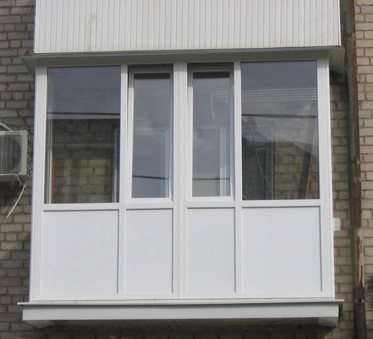 балкон с французским остеклением
