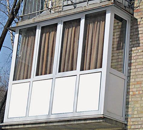 панорамное остекление на всю высоту балкона