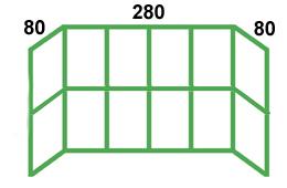 размеры остекления французского балкона 3 метра