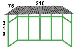 размеры остекления балкона с крышей в сталинке на последнем этаже