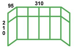 размеры остекления сталики с выносом