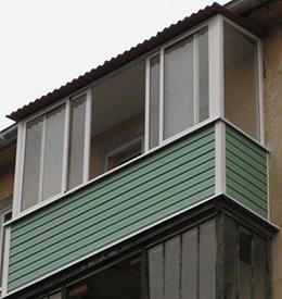 балкон хрущевки с крышей