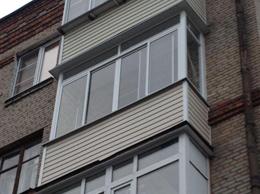 вид балкона сталинки